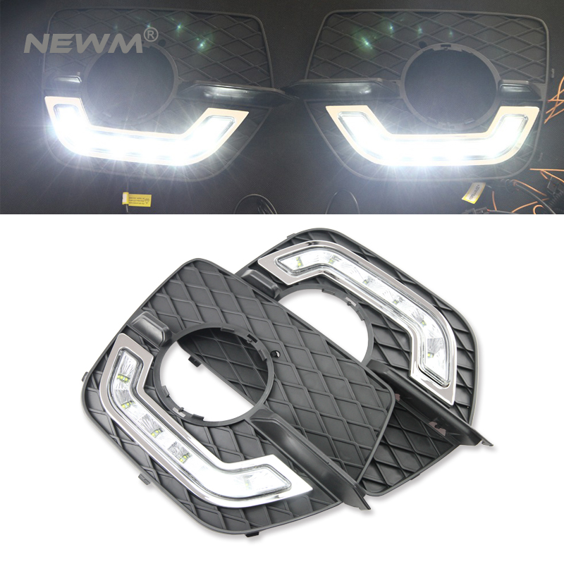 2pcs Car Accessories LED Lights DRL Daytime Running Light Auto Lamp For BMW X6 E71 2008-2012 Cars Day Running Light 2pcs 12v 31mm 36mm 39mm 41mm canbus led auto festoon light error free interior doom lamp car styling for volvo bmw audi benz