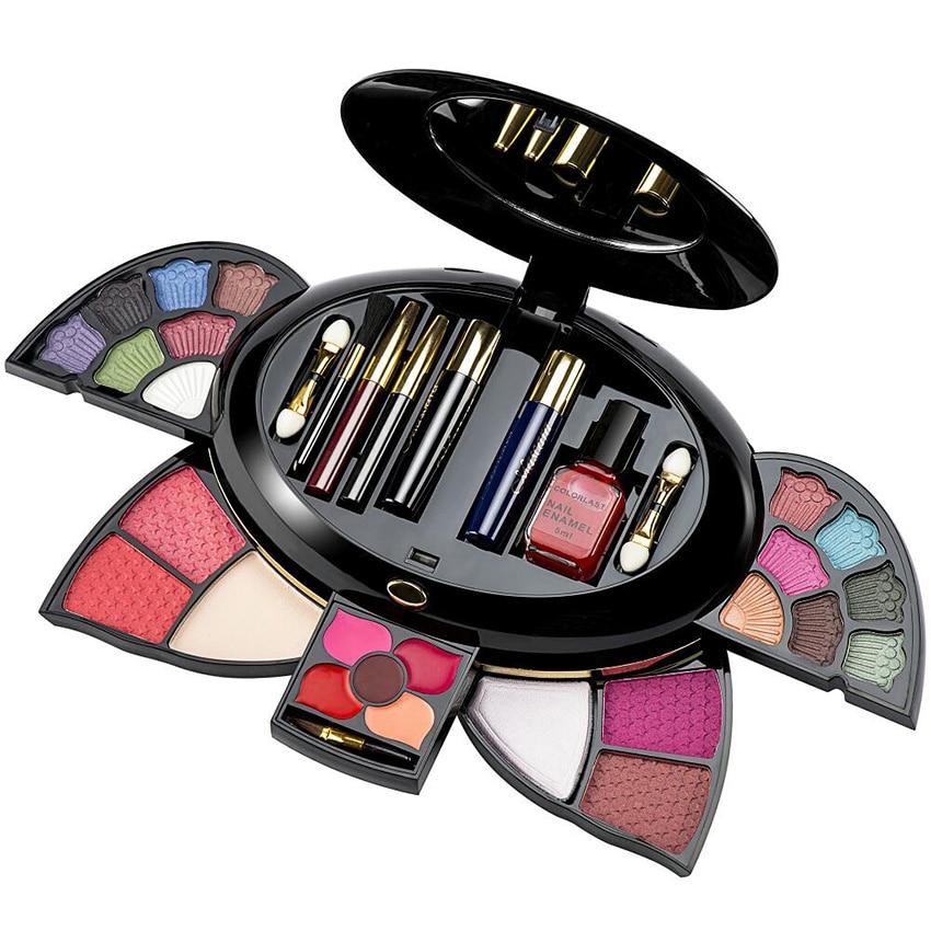 Подарок подруге брендовая Косметика набор макияж комплект Блеск тени для век палитры Блеск для губ тушь румяна комбинации Make Up Set