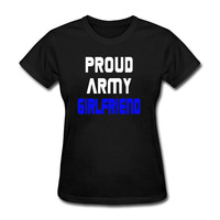 Women's Girls Ladies Proud Army Girlfriend T Shirt Summer Cotton Fitness T-shirt Casual Tshirt Tops Plus Size S - XXXL