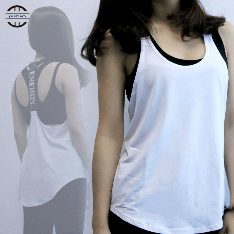 Yuerlian Sexy Fitness Enge Sport Yoga Hemd Dry Fit Sleeveless Sportbekleidung Blusen Laufweste Workout Crop Top Weibliches T-shirt