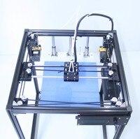 Comparar Pantalla LCD de alta calidad de doble extrusora 3D Máquina Impresora Fácil Instalación DIY KIT de gran tamaño de la impresora 3d