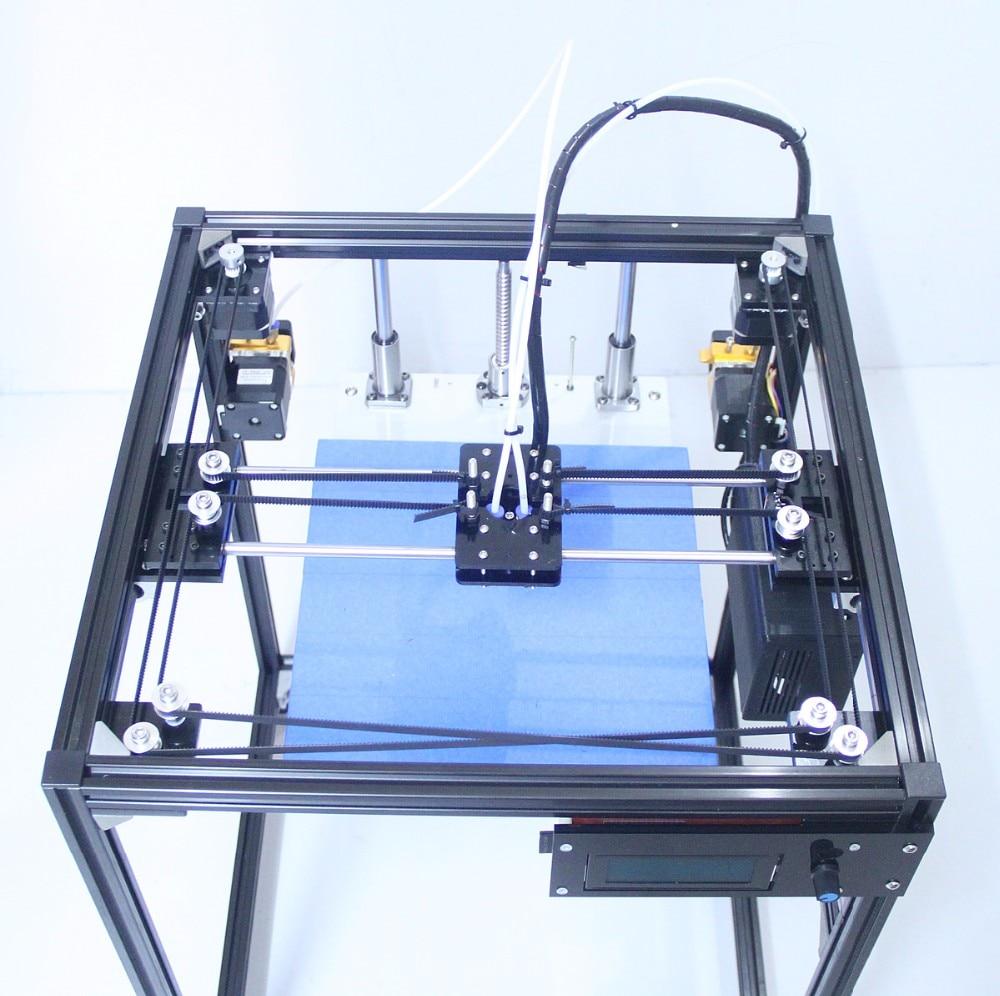 Augstas kvalitātes LCD ekrāns divkāršs ekstrūderis 3D printera iekārta Vienkārša uzstādīšana DIY KIT liela izmēra 3D printeris