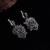 Feelgood Brand New Design de Prata Banhado A Conjuntos de Jóias de Cristal Preto Pingente de Flor Do Vintage Da Moda Colar E Brincos Set