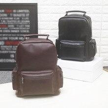 2017 New Men's Shoulders Bag Backpack Vintage Travel Bag Multi-pocket Large Capacity Male School Laptop Bag Travel Luggage Bag