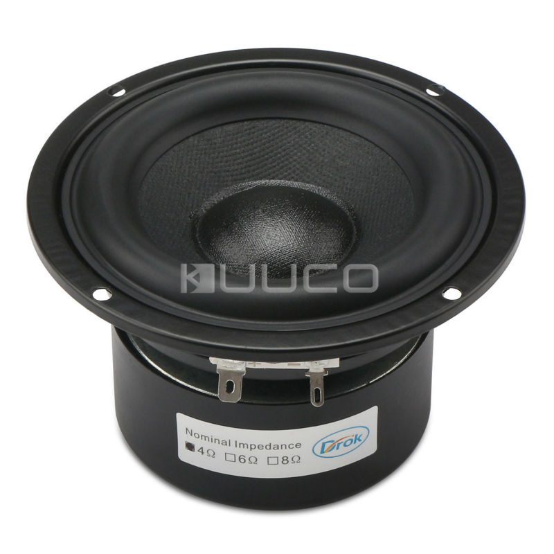 4-inch 4 ohms Audio Speaker Hi-Fi Subwoofer Speaker Audio Bass Loudspeaker 40W Antimagnetic Speaker for DIY speakers audio loudspeaker 40w woofer speaker double magnetic speaker 4 5 inch 4 ohms subwoofer bass speaker for diy speakers
