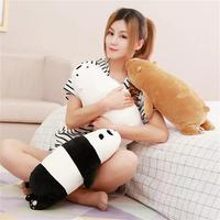 One Piece Small Cute Plush Lying Bear Toy Cute Soft Panda Pillow Doll Gift About 50cm