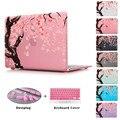 Cherry Blossom Бесшовные Сакура Pattern Ноутбука Ясно Чехол Для Воздуха 11 12 13 Печать Цветы Твердый Переплет Для Macbook Pro 13 15 сетчатки