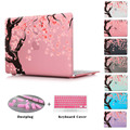 Cherry Blossom Seamless Sakura Pattern Laptop Clear Case For Air 11 12 13 Print Flowers Hard Cover For Macbook Pro 13 15 Retina