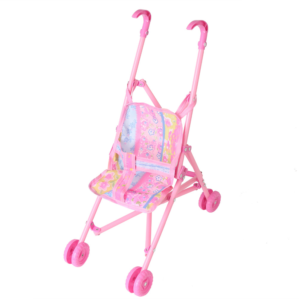 Baby Stroller Fashion Style Baby Doll Stroller Toy Doll Trolley Toy Simulated Stroller For Indoor Outdoor Use For Over 3 Year Old At Any Cost Four Wheels Stroller