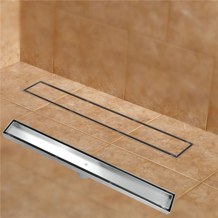 304 stainless steel 60cm Tile Insert Rectangular  linear anti-odor floor drain bathroom hardware invisible shower  11-208 stainless steel hand palm odor remover lasts forever
