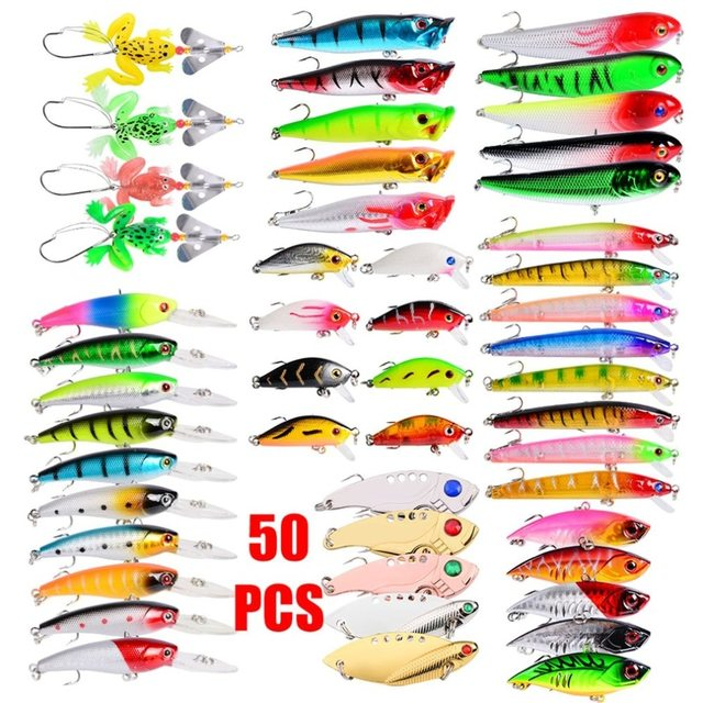 50 colors fake bait Mino combination suit about 535 grams fishing