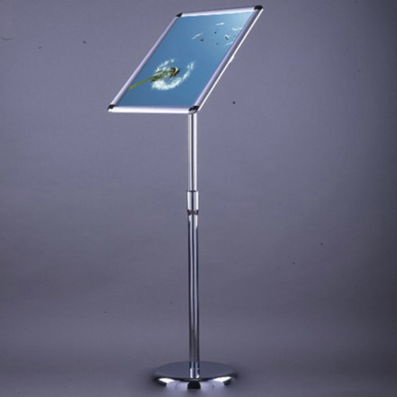 <font><b>A2</b></font> Adjustable Pedestal Floor Stand Led <font><b>Light</b></font> <font><b>Box</b></font> with Snap-Open Frame ,Floor Aluminum Clip Led <font><b>Light</b></font> Pockets image