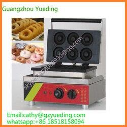 Donut waffle baking machine 6 pcs donut maker / doughnuts making machine / snack food processing machine