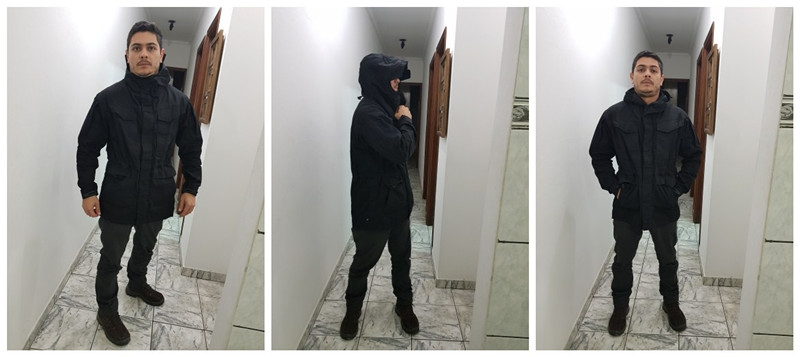 capuz militar campo jaqueta blusão jaquetas à prova dwaterproof água