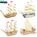 3d Puzzle, Puzzle, Toys Wooden 3d Puzzle Of Ancient Sailing Ships Classic Collector's Edition Free Shipping