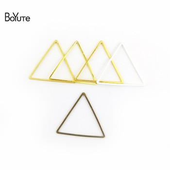 BoYuTe Metal Brass Geometric Triangle Connector Charms 4 Colors DIY Jewelry Findings Components 1