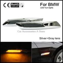 1 пара маркер указатели поворота Авто светодио дный Fender сторона лампы Amber Подходит для BMW E81 E82 E87 E88 e90 E91 E92 E93 E60 E61