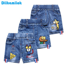 hot new baby boys jeans shorts boy denim shorts for kids casual children clothing cartoon summer fashion jeans 2-6 year X8-502 cheap Diikamiiok Cotton Polyester Spandex CN(Origin) Fits true to size take your normal size Elastic Waist Straight