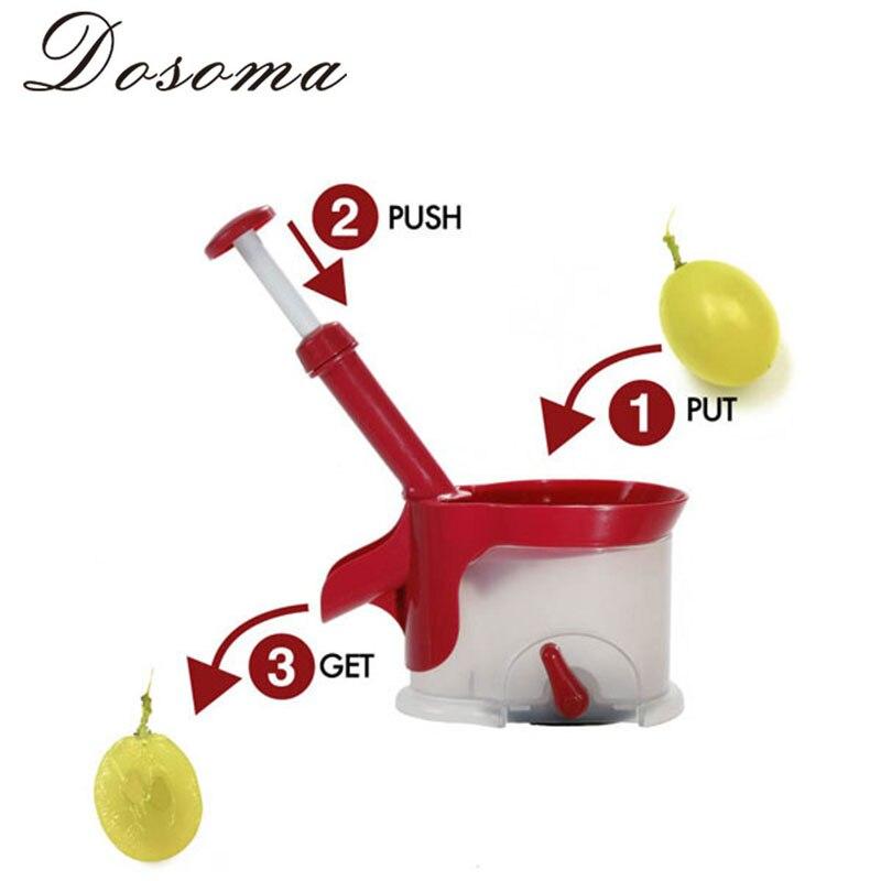 Creative Fruit Corer Cherry Grape Corer Novelty Tool Cherry Pitter Remover Machine New Fruit Nuclear Corer