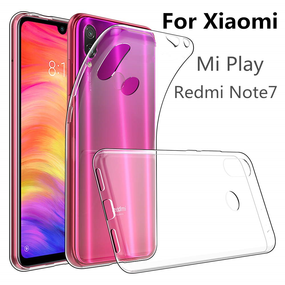 VSKEY 100PCS TPU Phone Case For Xiaomi Mi Play Redmi Note 7 High Bright Clear Ultra Thin Soft Transparent Silicone CoverVSKEY 100PCS TPU Phone Case For Xiaomi Mi Play Redmi Note 7 High Bright Clear Ultra Thin Soft Transparent Silicone Cover