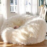 Cubierta de tumbona de bolsa de frijol LEVMOON, sofá sillas de sala de estar sin relleno, camas de bolsa de Beanbag asiento perezoso zac, interior bolsas de frijoles