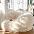 LEVMOON Размер Шезлонге Мешок Фасоли Крышка Диван сиденье Кресла мебель для гостиной Без Заполнения Погремушка Кровати ленивый сиденье зак