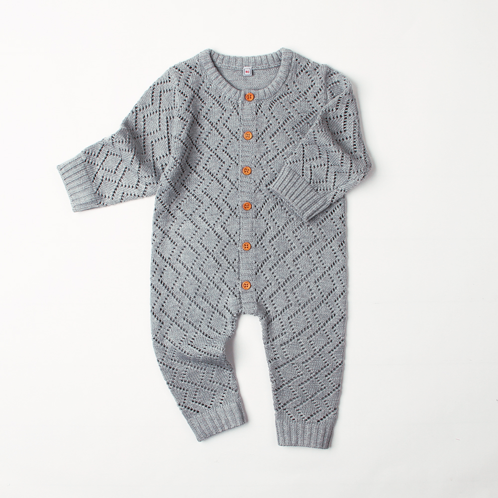 Toddler Girl Winter Knit Rompers Blue Long Sleeve Newborn Boys Jumpsuits  Outfits Autumn Winter Warm Baby ... 3d294a4b4b5