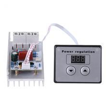 Переменный ток 220 В 10000 Вт 80A цифровой контроль SCR Электронный регулятор напряжения регулятор скорости Диммер термостат+ Цифровые Счетчики