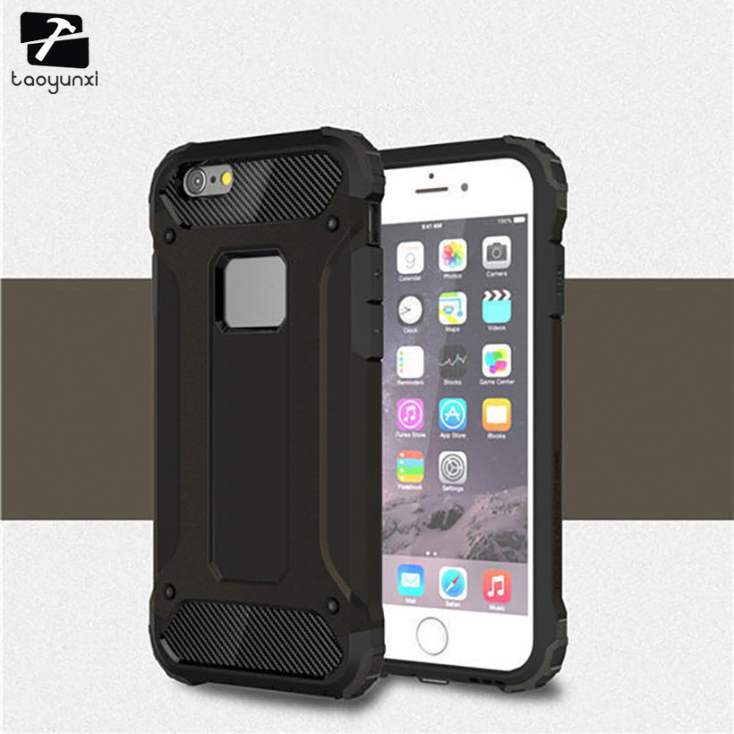 TAOYUNXI Phone Case Cover For Apple iPhone 6 6S 66S 6G iphone6 iPhone6S Case PC TPU Kickstand Bag Housing Hood For iPhone66S