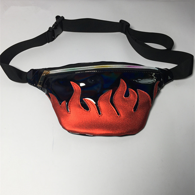 bag belt waist pack brand waist bag Matte material fanny pack Laser pocket translucent reflective chest waist bag fanny pack