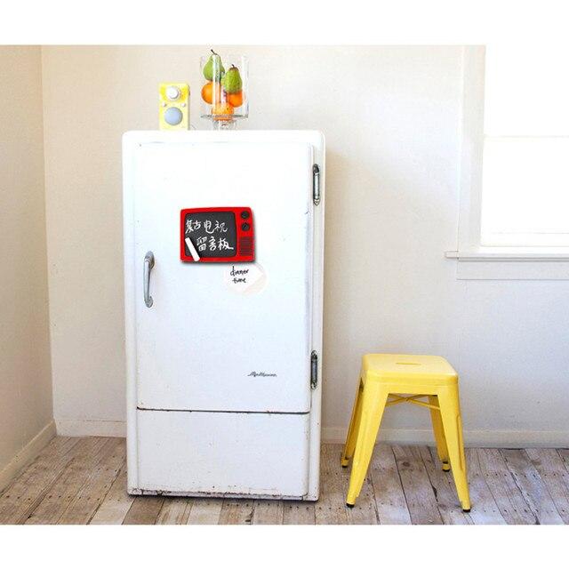 US $13 99 |Freeshipping TV like write erase Matt frosted message chalk  board Fridge Magnet home kitchen office decoration Lover modern gift-in  Fridge