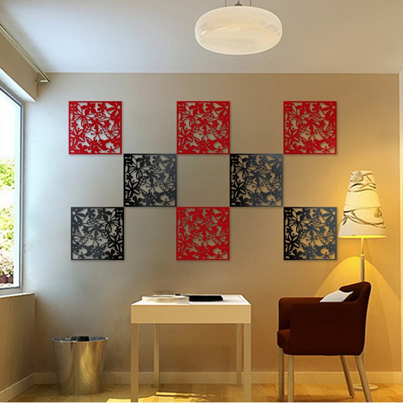 Order 1 Meter 4pcs Flower Wallpaper Wall Sticker Hanging Screen Curtain Room Divider Partition New Feshion Home Decoration Hot
