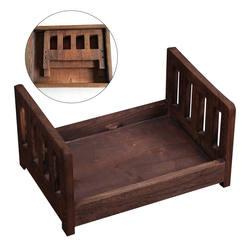 Детская кроватка позирует Съемная студия реквизит Фон подарок для фотосъемки новорожденных деревянная кровать диван Корзина Аксессуары