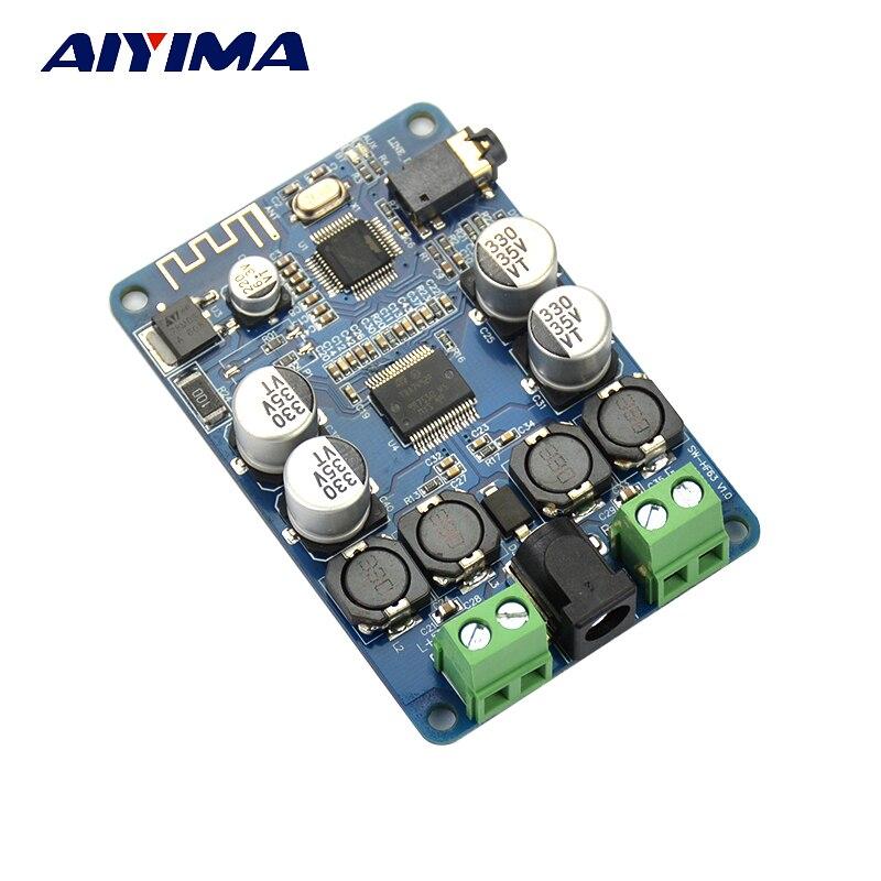 AIYIMA TDA7492P Receptor Bluetooth Amplificador De Áudio Amplificador de Potência de Placa 25W * 2 Música Mini Amplificadores Falantes Modificado Diy