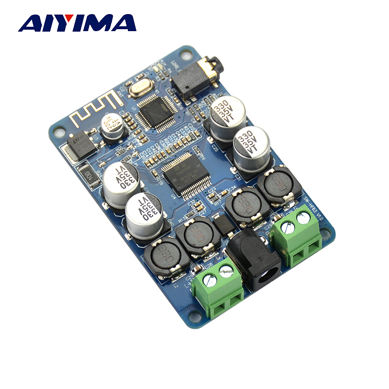 AIYIMA TDA7492P Placa de Áudio Do Amplificador do Receptor Bluetooth 25 W * 2 Alto-falantes Modificado Música Mini Amplificadores Diy canal Duplo