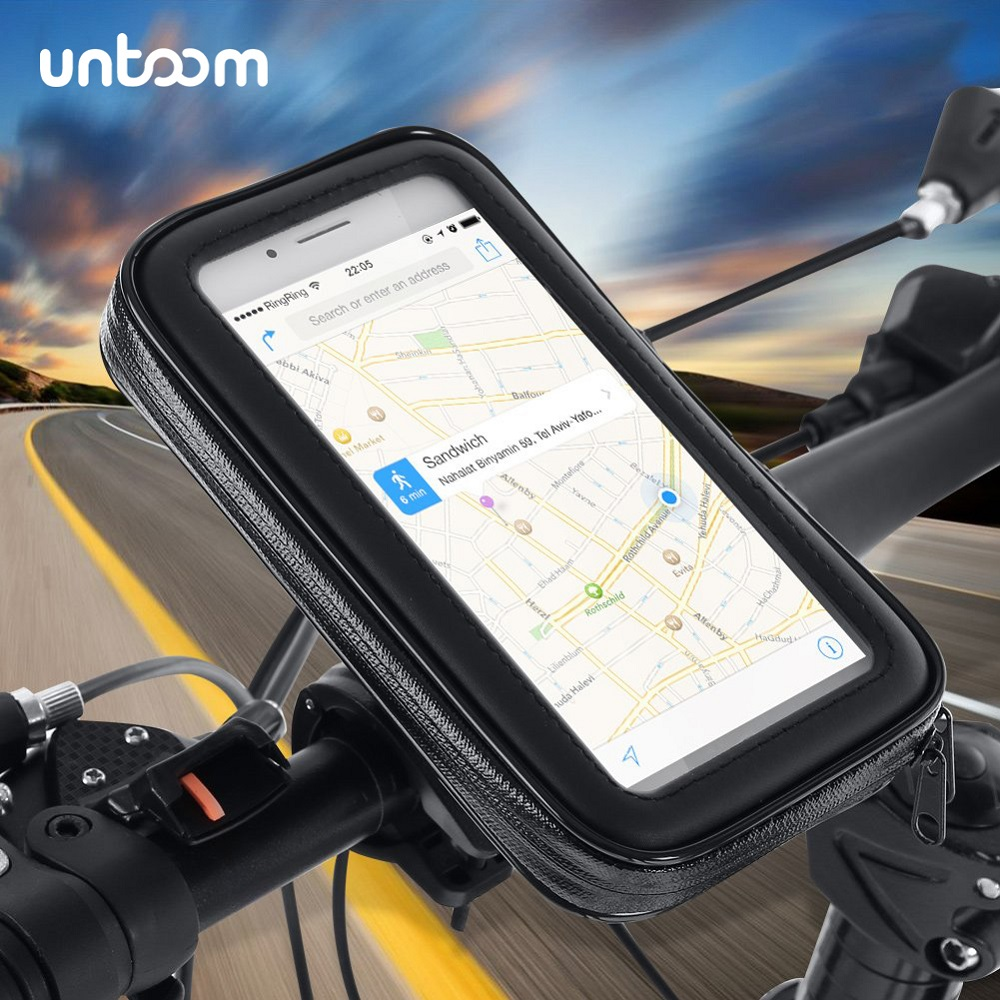 Waterproof Bicycle Cell Phone Holder Motorcycle Handlebar Bag Case For IPhone Xs Xr X 8 7Plus Bike Phone Mount For Samsung S9 S8