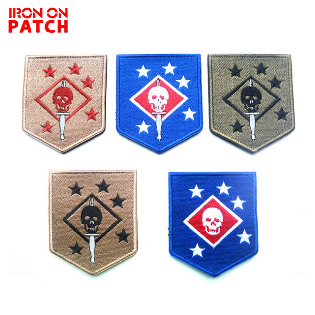 06a26f15115 USMC  the United States Marine Corps commando  MARINE RAIDERS Patches  embroidery badge the tactical military HOOK LOOP clothes