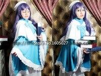אנימה אהבה בשידור חי מקהלת חג המולד הימנון nozomi טוג ' ו אופנה מסיבת בגדים לוליטה cosplay תלבושות חדשה כחול לבן להתלבש בכל גודל