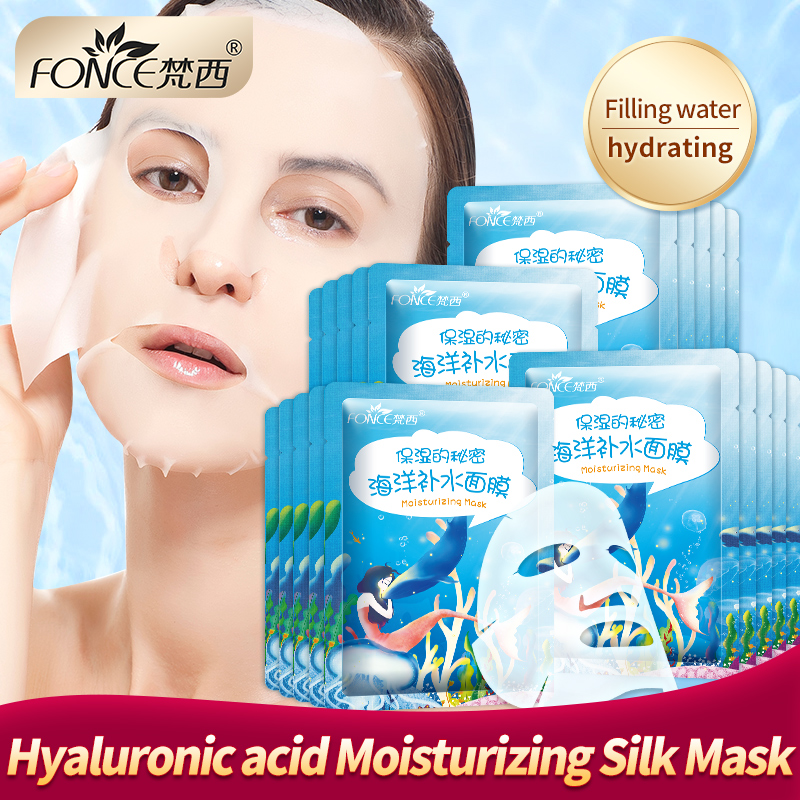 Korean Moisturizing Mask Summer Cool Face for the face Refreshing Silk Mask Brighten Pores Shrink Anti Aging Oil control 10piece in Treatments Masks from Beauty Health