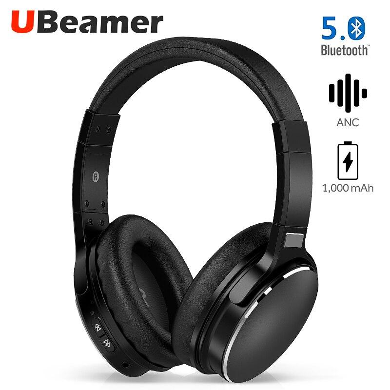 Ubeamer H1 annulation Active du bruit Bluetooth 5.0 casque intégré 1,000 mAh batterie longue veille casque sans fil musique