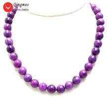 Женское Ожерелье чокер qingmos из натурального камня ожерелье
