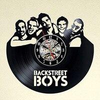 Backstreet Boys CD Record Wall Clock Creative Band Theme Vinyl Record Wall Clock Handmade Classic Room Hanging LED Wall Clock