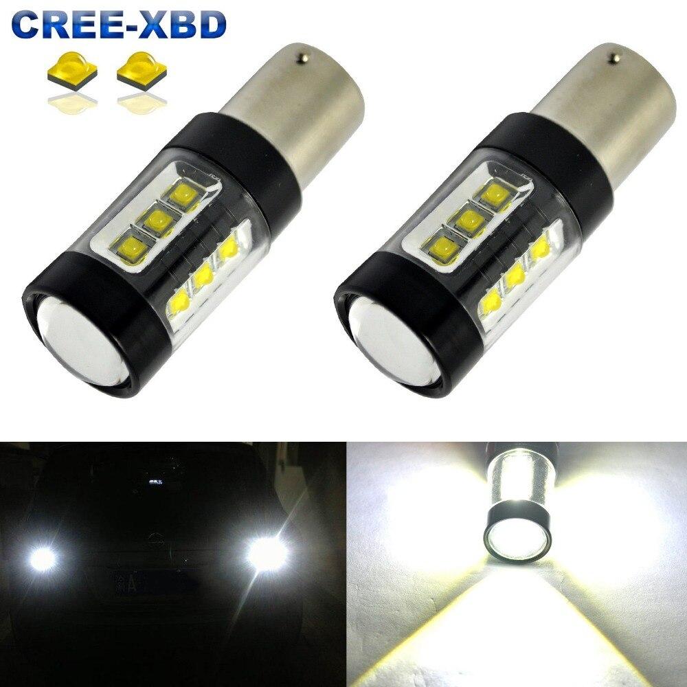 High Power S25 1156 80W P21W 382 CREE Chip LED Reverse/Backup/DRL/Fog Diode Light BA15S Sourcing Light 12-24V CANBUS ERROR FREE