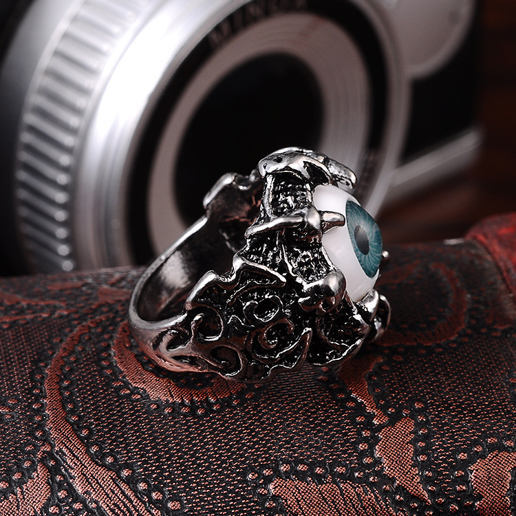 Punk Eyes Claw Biker Gothic Ring Taille 8 8 10 10 11 J026 de femmes - Bijoux fantaisie - Photo 4