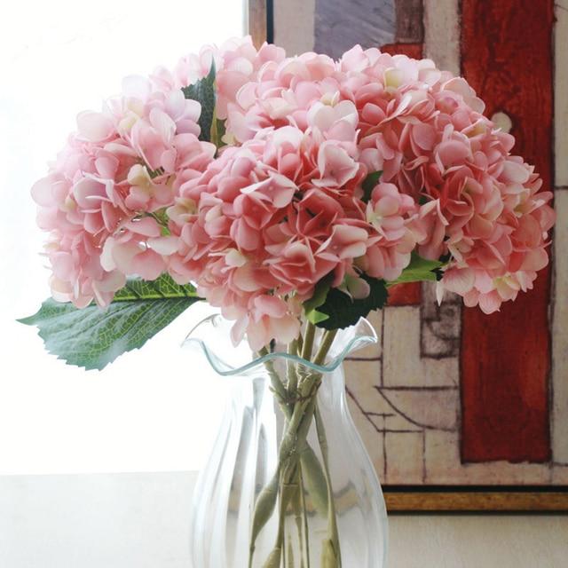 Extrem Soie Artificielle Fleur D'hortensia Bouquet Arrangement Accueil  XE19