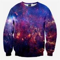 Yeni 2017 erkek kadın 3d hayvan samanyolu yıldız baskılı hoodies uzay galaxy rahat kazak marka uzay galaxy tişörtü tops
