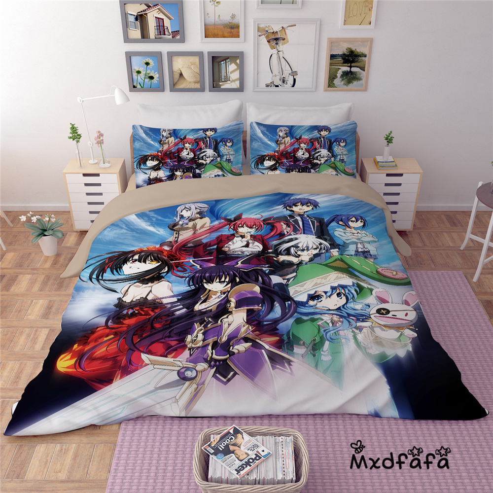 Mxdfafa Anime DATE A LIVE  Duvet Cover Set bedding set Luxury Comforter Bedding Sets  Include 1 Duvet Cover and 2 pillow casesMxdfafa Anime DATE A LIVE  Duvet Cover Set bedding set Luxury Comforter Bedding Sets  Include 1 Duvet Cover and 2 pillow cases