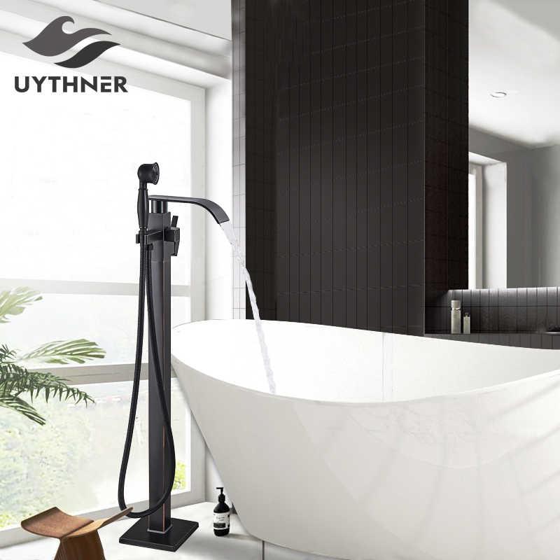 Contemporary Black Bronze Bathroom Shower Bath Tub Mixer Tap