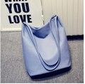 2017 fashion pu de cuero de las mujeres del bolso del cubo de la nueva llegada colorido del bolso de hombro ocasional bolsa de mensajero de la vendimia y-568