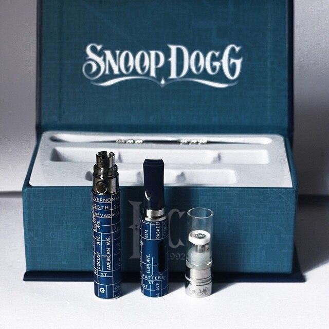 Сжигание Сухой Травы Испаритель Snoop Dogg Starter Жидкостью Vape Электронная Сигарета G-Pen Kit подарочной коробке Случае Е-Сигарета